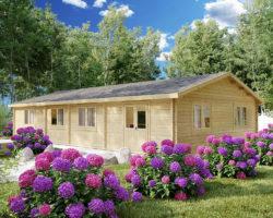 Three Bedroom Log Cabin Cottage Hansa Holiday G 100m2 / 14 x 7m / 70mm