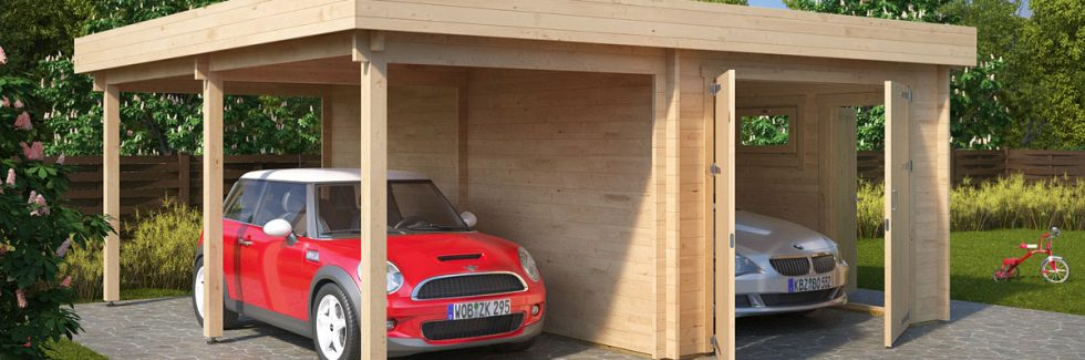 Advantages of a Wooden Garage with Carport