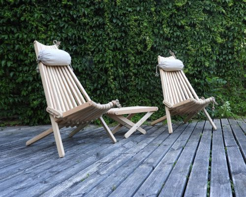 Gardeb chairs from siberian larch
