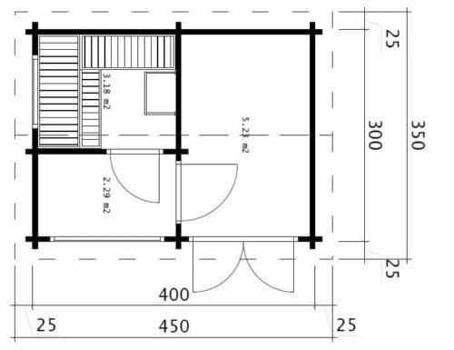 Sauna Finland ground plan