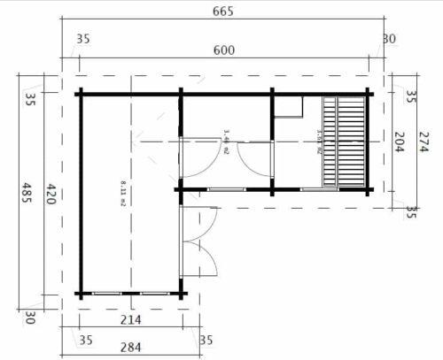 Sauna Oliver III ground plan