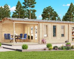 Garden Room with Veranda and Shed Super Eva E 18 m2