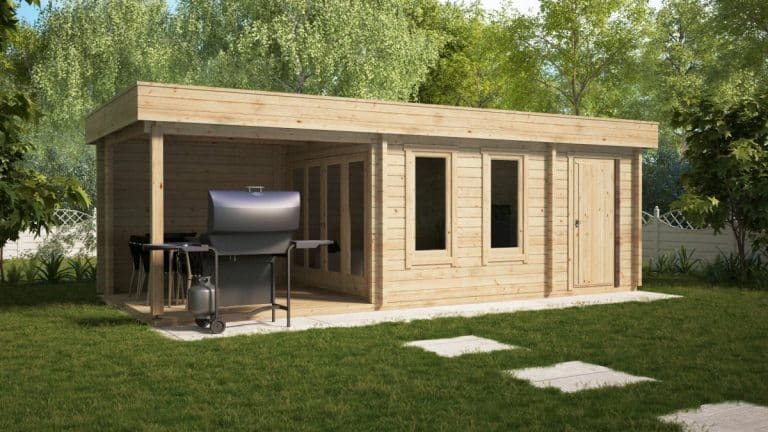 Multifunctional Garden Building Super Lucas E 3 x 8m