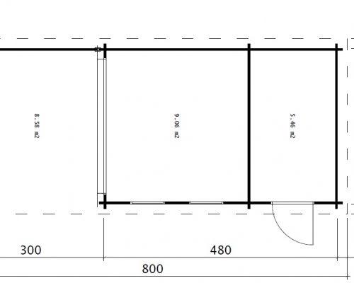 Multifunctional Garden Building Super Lucas E 3 x 8m