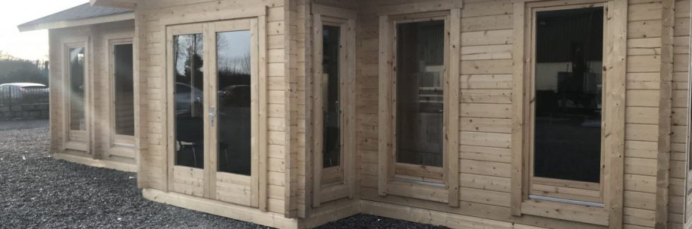 70mm log cabin as office building