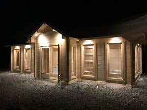70mm log cabin as office building 3