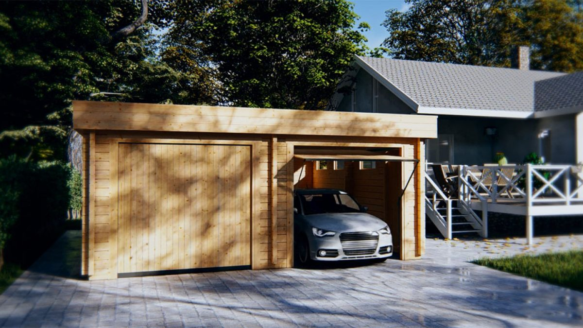 Usage Of A Garage With Carport For Recreational Purposes Summer House 24