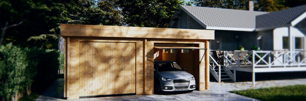Usage of a garage with carport for recreational purposes?