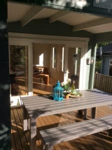 Garden rooms Sauna Cabin and BBQ Hut on display at our site in Totnes Devon 1 e1534763636501