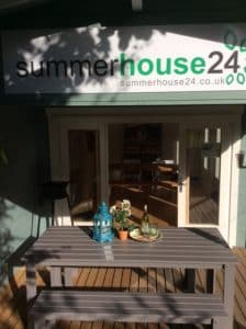 Garden rooms Sauna Cabin and BBQ Hut on display at our site in Totnes Devon 2 e1534763619939