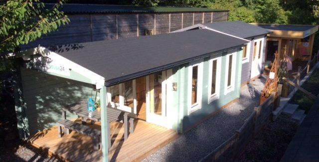 Garden rooms, Sauna Cabin and BBQ Hut on display at our site in Totnes, Devon 4