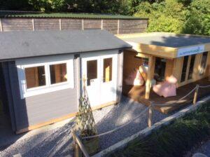 Garden rooms Sauna Cabin and BBQ Hut on display at our site in Totnes Devon 6
