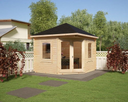 Corner Summer House Victoria B TE 7m2 / 40mm / 3 x 3 m