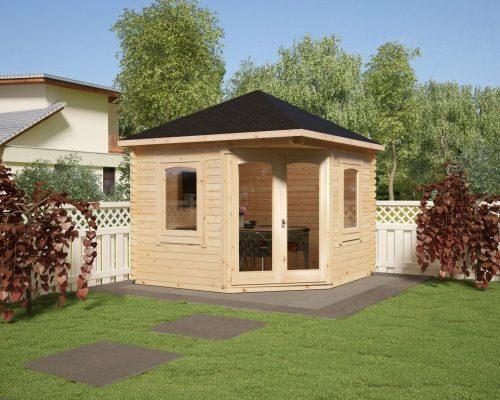 Corner Summer House Victoria B TE 7m2 / 40mm / 3 x 3 m
