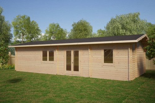 Wooden Lodge with Two Bedrooms Murcia 47m2 / 11 x 4,5 m / 70mm