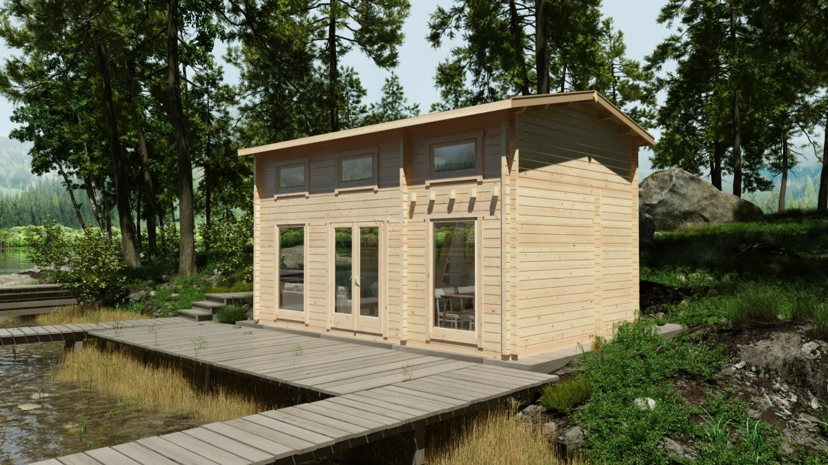 Wooden Lodge with Sleeping Loft Sweden B