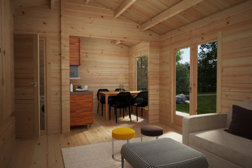 Wooden Lodge with Bathroom Sweden A