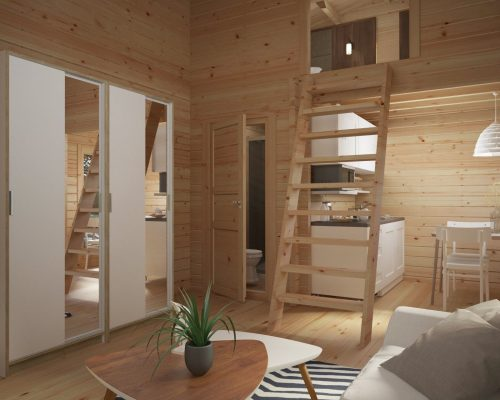 Wooden Lodge with Sleeping Loft Sweden B