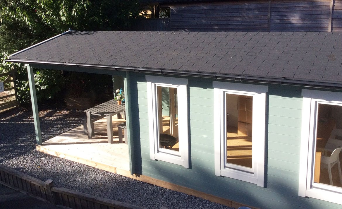 Summerhouse24 garden room display site in Devon