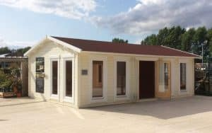 Garden room display site in Leeds - Summerhouse24