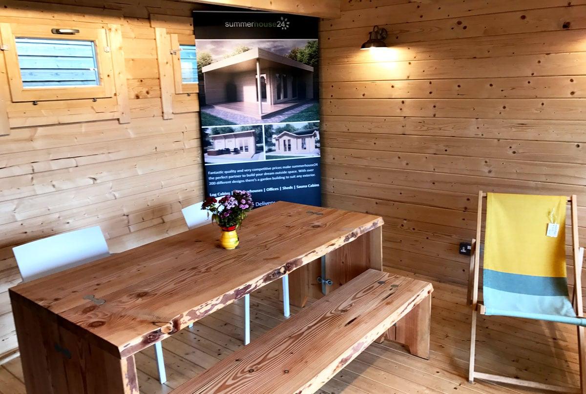 Summerhouse24 garden building display site in Devon