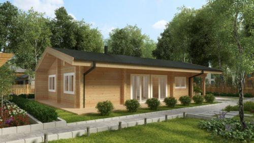 Residential Log Cabin Hansa 71