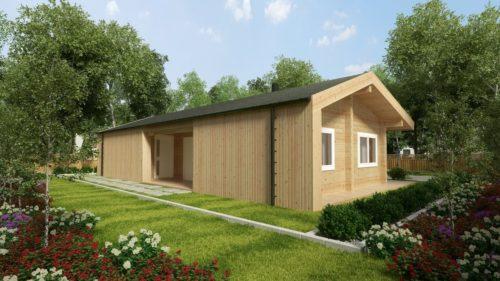Log Cabin Home Hansa 71