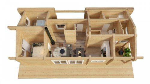 Residential Log Cabin Home Hansa 71