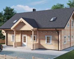 Four bedroom log cabin Hansa-188