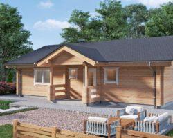 Two Bedroom Residential Log Home Hansa-92