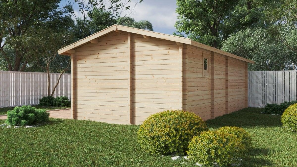 Large garden log cabin with sauna Devon-3 / 40 m2 / 70mm
