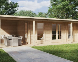 Garden Room with Veranda Hansa Studio XXL 21 m2 / 5 x 9 m / 70 mm