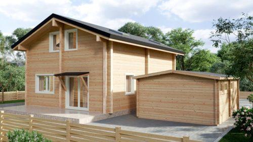 Three bedroom log cabin Hansa-122