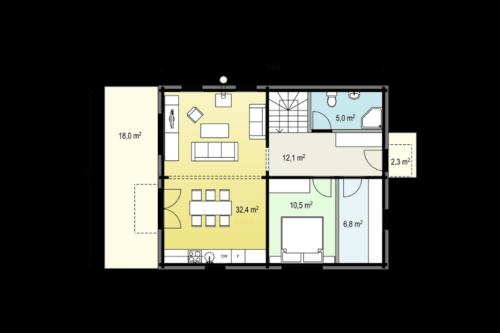 Hansa-122 first floor