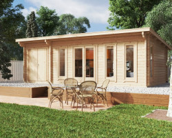 Garden Log Cabin with Storage Room Barbados Plus