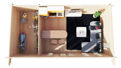 Garden Log Cabin with Storage Room Barbados Plus