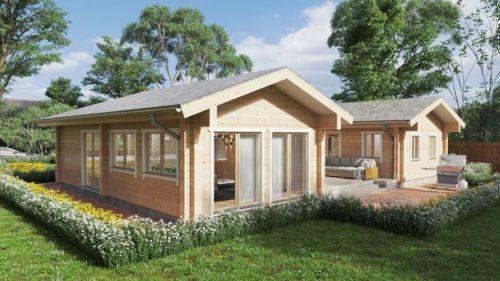 Large log cabin Tania-120