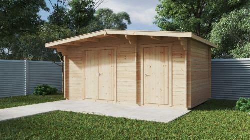 Double storage shed type A