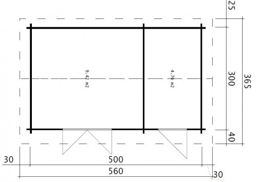 Double Shed B ground plan