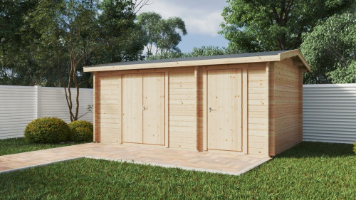 Double garden storage shed type B
