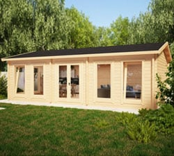 Contemporary Garden Log Cabins