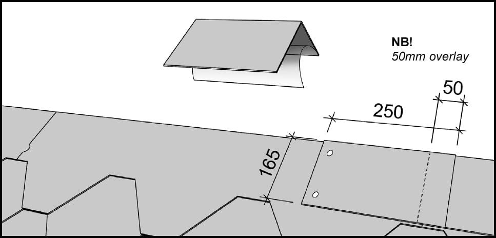 Mounting roof ridge plates