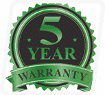 5 Year Factory Warranty on all wooden components