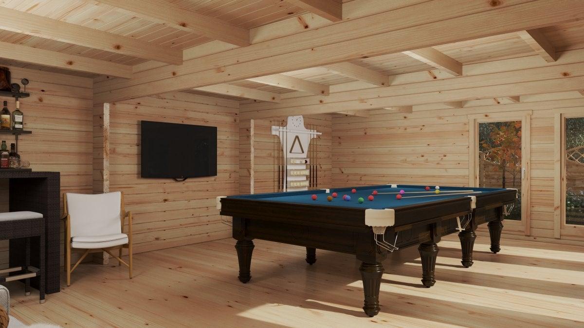 Garden Snooker Room XL I / 8 x 5,5 m / 43 m2 / 70 mm
