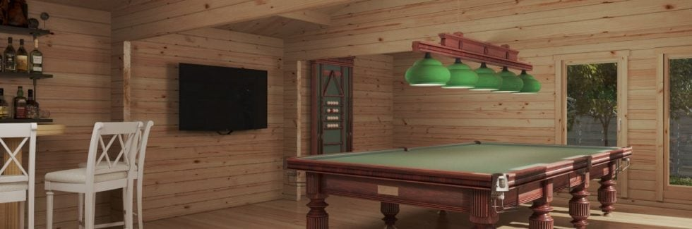 Large Garden Snooker Room XL II / 8 x 5,5 m / 43 m2 / 70 mm
