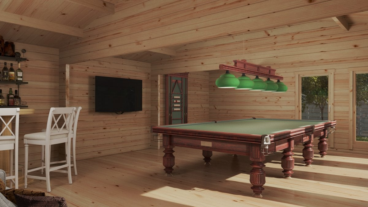 Large Garden Snooker Room XL II / 8 x 5,5 m / 43 m2 / 70 mm