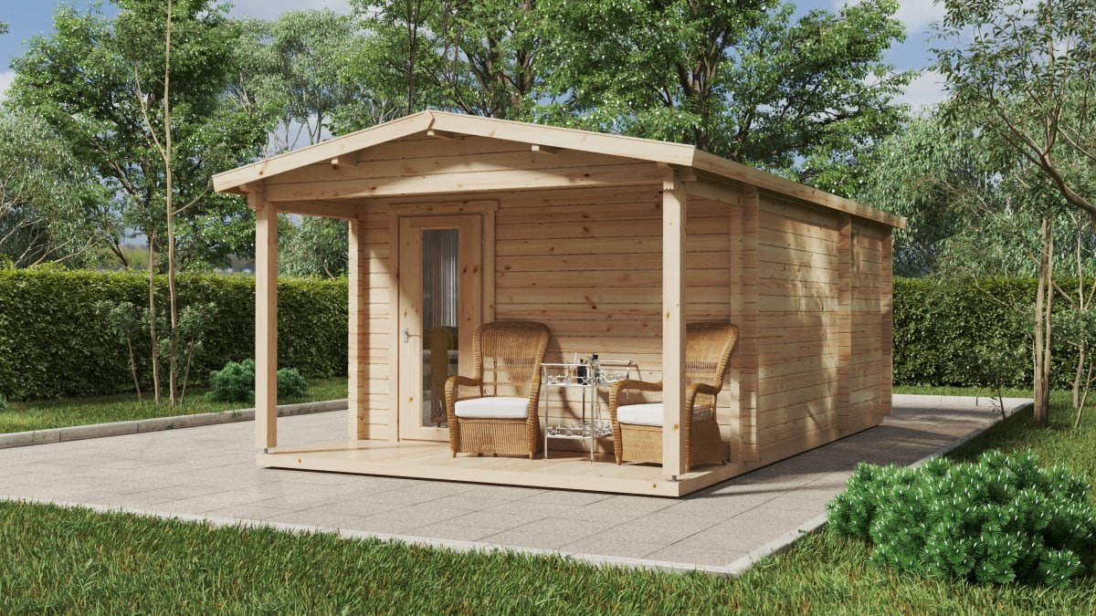 Log cabin with internal shower room and WC Martin I