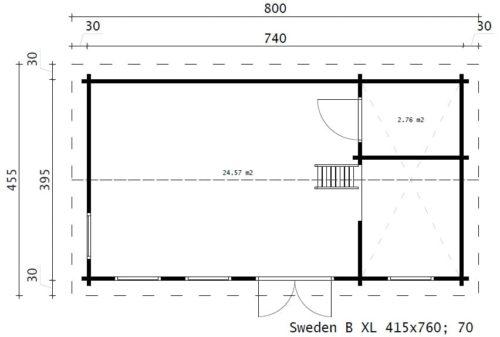 Sweden B XL ground plan