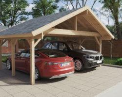 Wooden Carport Henley XL