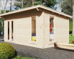 Timber Lodge Mia 2 with internal shower room WC / 5 x 3 m / 15m2 / 44mm